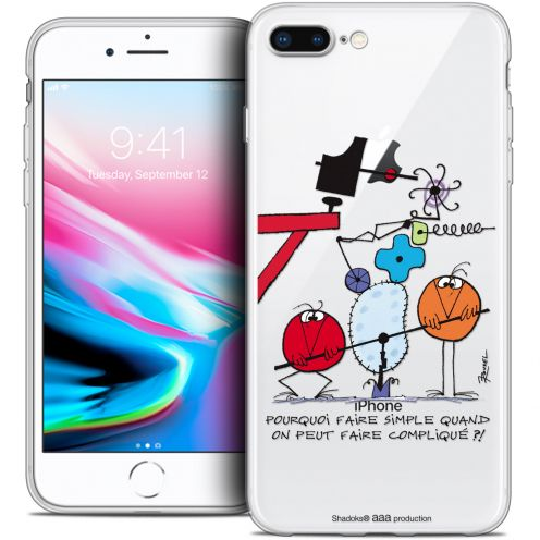 "Coque Gel Apple iPhone 7 Plus (5.5"") Extra Fine Les Shadoks® - Pourquoi faire Simple"