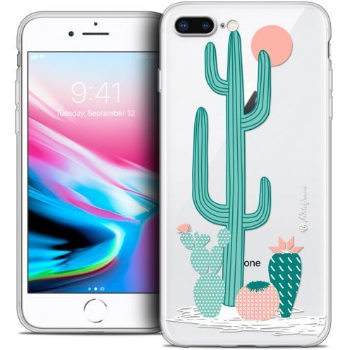 "Coque Gel Apple iPhone 7 Plus (5.5"") Extra Fine Petits Grains® - A l'Ombre des Cactus"