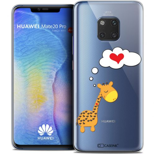 "Coque Crystal Gel Xiaomi Mate 20 PRO (6.4"") Extra Fine Love - Girafe Amoureuse"