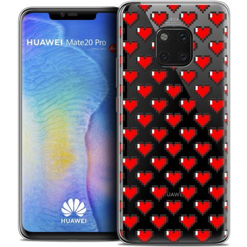 "Coque Crystal Gel Xiaomi Mate 20 PRO (6.4"") Extra Fine Love - Pixel Art"