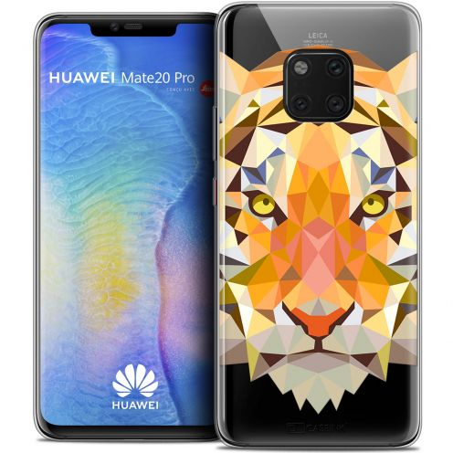 "Coque Crystal Gel Huawei Mate 20 PRO (6.4"") Extra Fine Polygon Animals - Tigre"