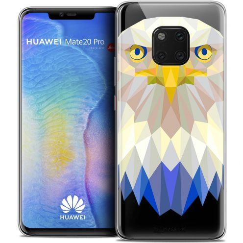 "Coque Crystal Gel Huawei Mate 20 PRO (6.4"") Extra Fine Polygon Animals - Aigle"