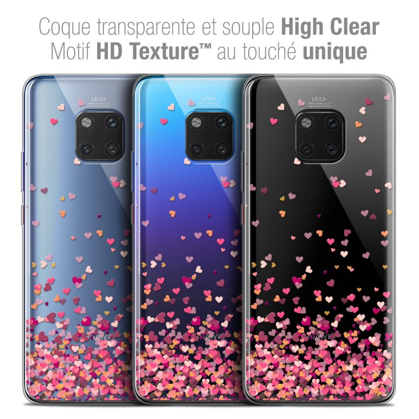 "Coque Crystal Gel Xiaomi Mate 20 PRO (6.4"") Extra Fine Sweetie - Heart Flakes"