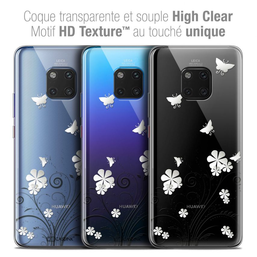 """Coque Crystal Gel Xiaomi Mate 20 PRO (6.4"""") Extra Fine Summer - Papillons"""
