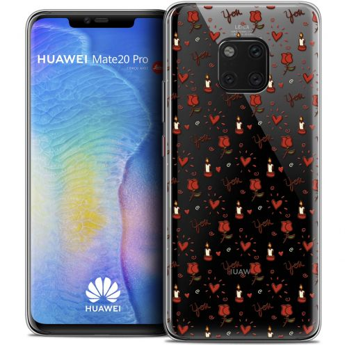 "Coque Crystal Gel Huawei Mate 20 PRO (6.4"") Extra Fine Love - Bougies et Roses"