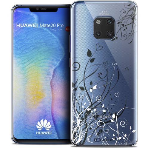 "Coque Crystal Gel Huawei Mate 20 PRO (6.4"") Extra Fine Love - Hearts Flowers"