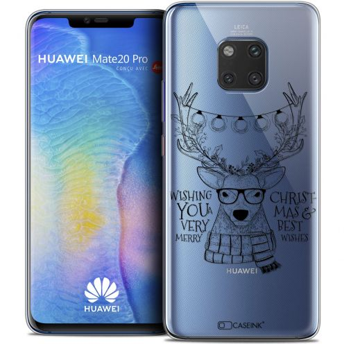 "Coque Crystal Gel Huawei Mate 20 PRO (6.4"") Extra Fine Noël 2017 - Cerf Hipster"