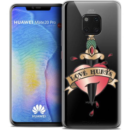 "Coque Crystal Gel Xiaomi Mate 20 PRO (6.4"") Extra Fine Tatoo Lover - Love Hurts"