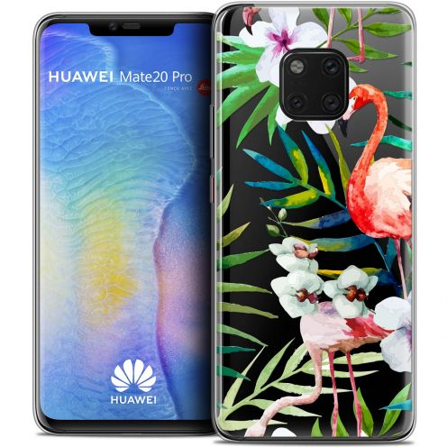 "Coque Crystal Gel Xiaomi Mate 20 PRO (6.4"") Extra Fine Watercolor - Tropical Flamingo"