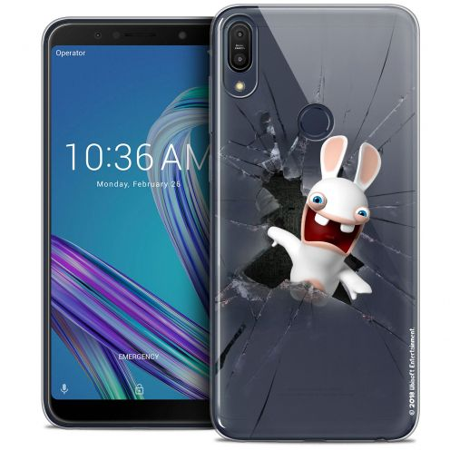 "Coque Gel Asus Zenfone Max Pro (M1) ZB601KL (6"") Extra Fine Lapins Crétins™ - Breaking Glass"