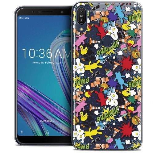 "Coque Gel Asus Zenfone Max Pro (M1) ZB601KL (6"") Extra Fine Lapins Crétins™ - Bwaaah Pattern"