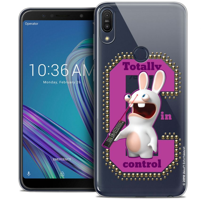 """Coque Gel Asus Zenfone Max Pro (M1) ZB601KL (6"""") Extra Fine Lapins Crétins™ - In Control !"""