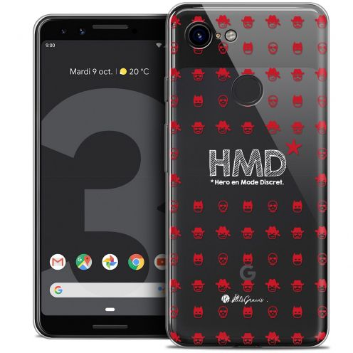 "Coque Gel Google Pixel 3 (5.5"") Extra Fine Petits Grains® - HMD* Hero en Mode Discret"
