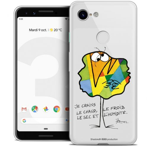 """Coque Gel Google Pixel 3 (5.5"""") Extra Fine Les Shadoks® - Chaud ou Froid"""
