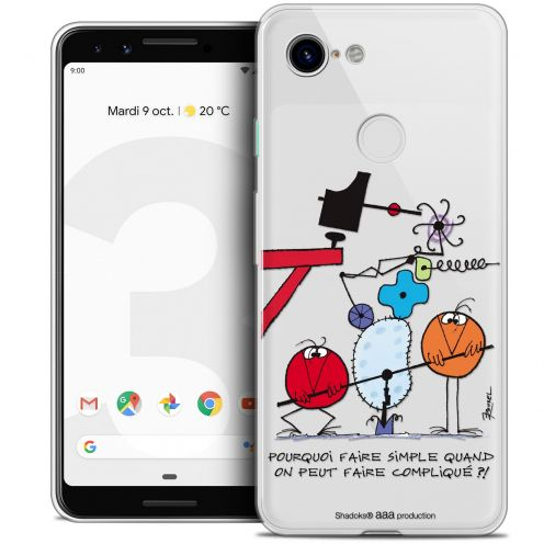 "Coque Gel Google Pixel 3 (5.5"") Extra Fine Les Shadoks® - Pourquoi faire Simple"