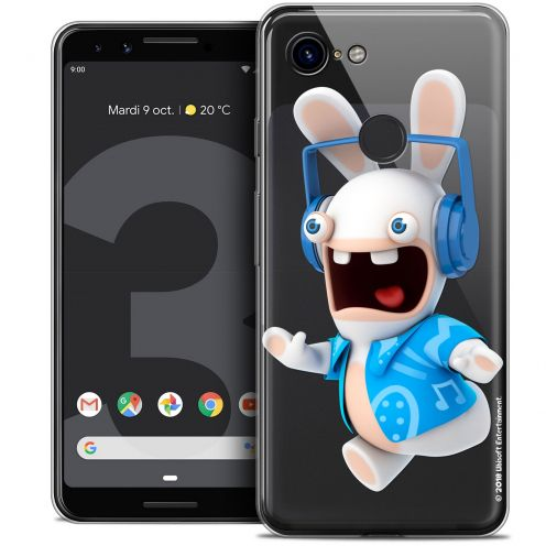 """Coque Gel Google Pixel 3 (5.5"""") Extra Fine Lapins Crétins™ - Techno Lapin"""