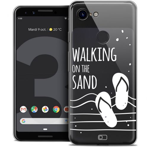 """Coque Crystal Gel Google Pixel 3 (5.5"""") Extra Fine Summer - Walking on the Sand"""