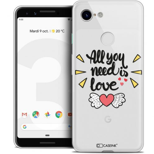 "Coque Crystal Gel Google Pixel 3 (5.5"") Extra Fine Love - All U Need Is"