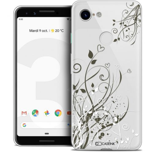 "Coque Crystal Gel Google Pixel 3 (5.5"") Extra Fine Love - Hearts Flowers"