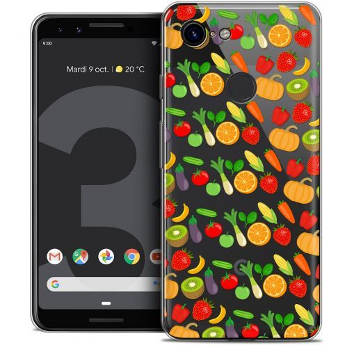 "Coque Crystal Gel Google Pixel 3 (5.5"") Extra Fine Foodie - Healthy"