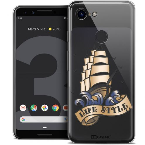 """Coque Crystal Gel Google Pixel 3 (5.5"""") Extra Fine Tatoo Lover - Life Style"""