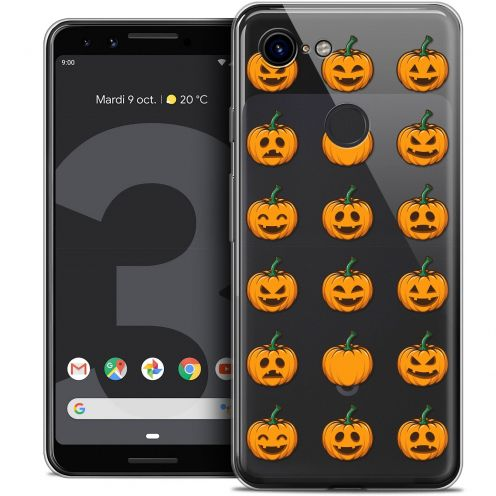 "Coque Crystal Gel Google Pixel 3 (5.5"") Extra Fine Halloween - Smiley Citrouille"