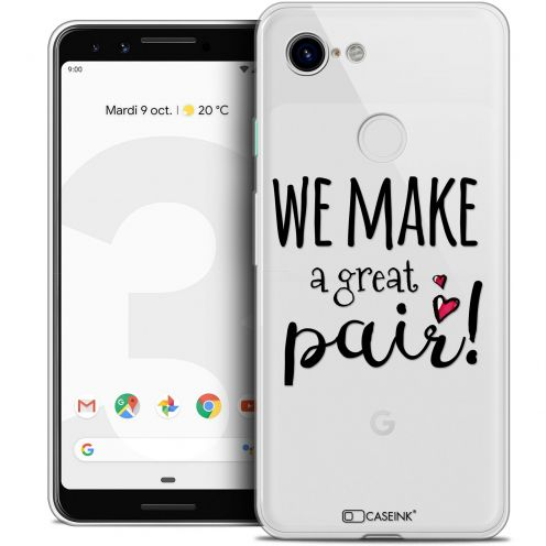 "Coque Crystal Gel Google Pixel 3 (5.5"") Extra Fine Love - We Make Great Pair"
