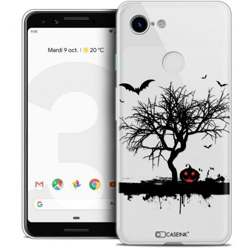 "Coque Crystal Gel Google Pixel 3 (5.5"") Extra Fine Halloween - Devil's Tree"