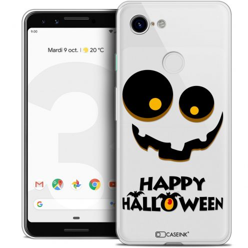 "Coque Crystal Gel Google Pixel 3 (5.5"") Extra Fine Halloween - Happy"