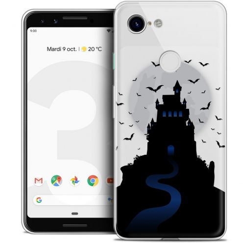"Coque Crystal Gel Google Pixel 3 (5.5"") Extra Fine Halloween - Castle Nightmare"