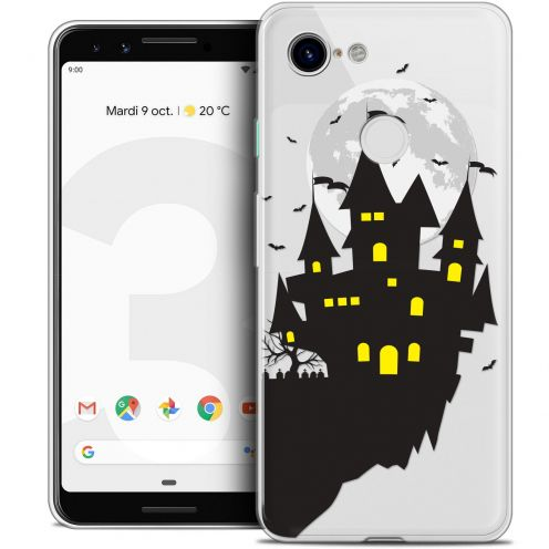 "Coque Crystal Gel Google Pixel 3 (5.5"") Extra Fine Halloween - Castle Dream"