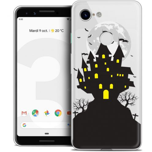 "Coque Crystal Gel Google Pixel 3 (5.5"") Extra Fine Halloween - Castle Scream"