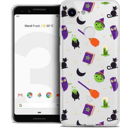 "Coque Crystal Gel Google Pixel 3 (5.5"") Extra Fine Halloween - Witch Potter"