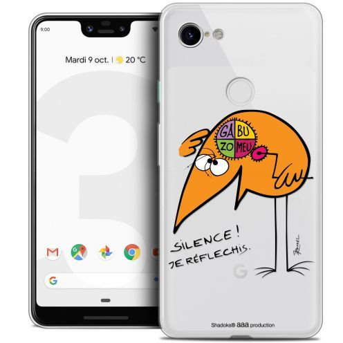 "Coque Gel Google Pixel 3 XL (6.3"") Extra Fine Les Shadoks® - Silence !"