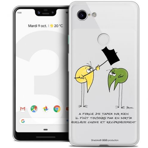 "Coque Gel Google Pixel 3 XL (6.3"") Extra Fine Les Shadoks® - A Force"
