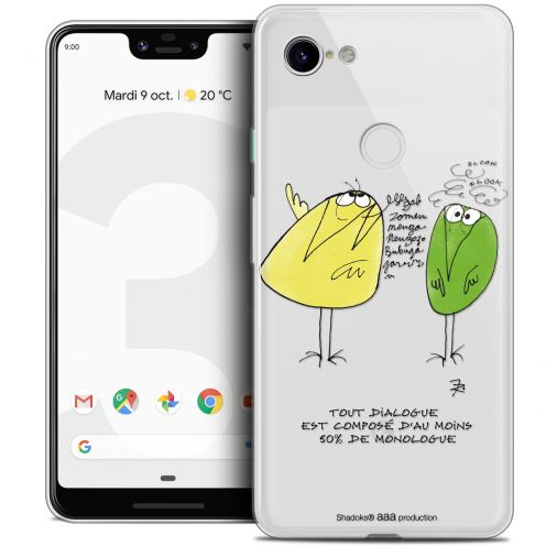 "Coque Gel Google Pixel 3 XL (6.3"") Extra Fine Les Shadoks® - Le Dialogue"