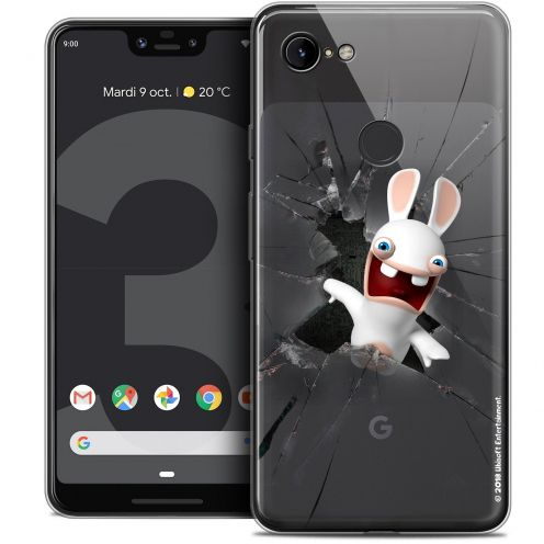 """Coque Gel Google Pixel 3 XL (6.3"""") Extra Fine Lapins Crétins™ - Breaking Glass"""
