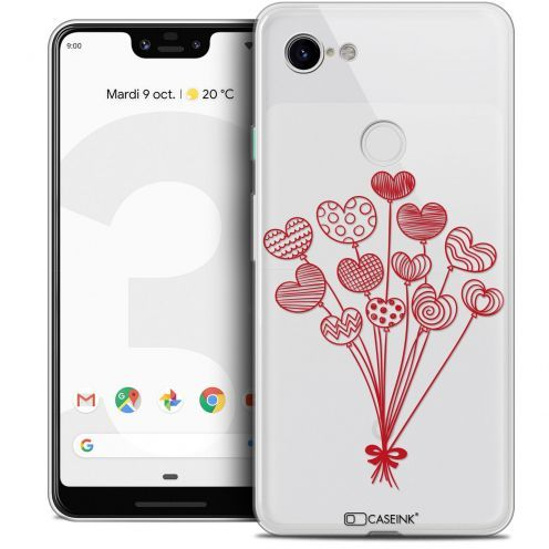 "Coque Crystal Gel Google Pixel 3 XL (6.3"") Extra Fine Love - Ballons d'amour"