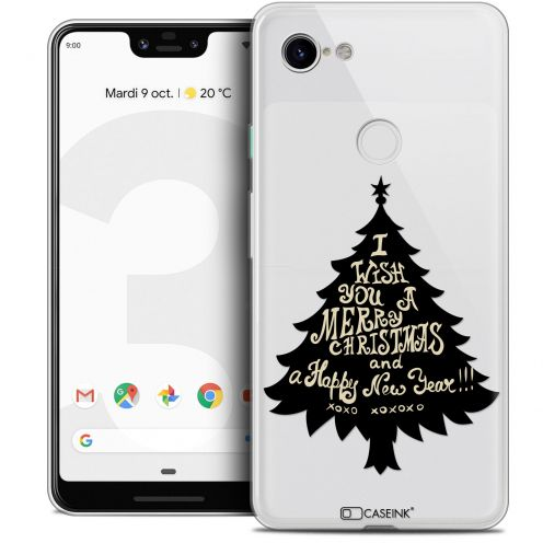 "Coque Crystal Gel Google Pixel 3 XL (6.3"") Extra Fine Noël 2017 - XOXO Tree"