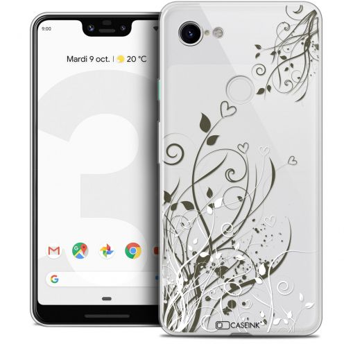 "Coque Crystal Gel Google Pixel 3 XL (6.3"") Extra Fine Love - Hearts Flowers"