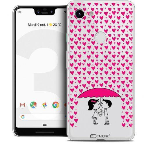 "Coque Crystal Gel Google Pixel 3 XL (6.3"") Extra Fine Love - Pluie d'Amour"
