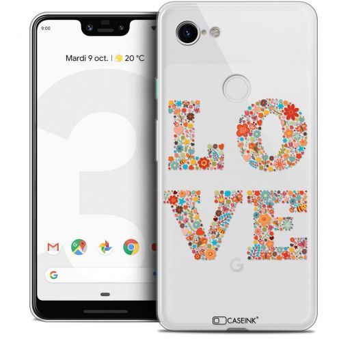 "Coque Crystal Gel Google Pixel 3 XL (6.3"") Extra Fine Summer - Love Flowers"