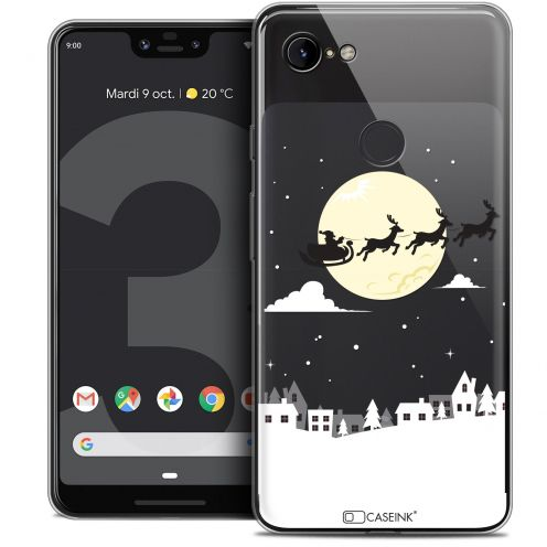 "Coque Crystal Gel Google Pixel 3 XL (6.3"") Extra Fine Noël 2017 - Flying Stanta"