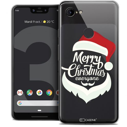 "Coque Crystal Gel Google Pixel 3 XL (6.3"") Extra Fine Noël 2017 - Merry Everyone"