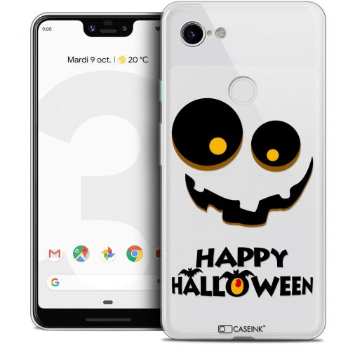 "Coque Crystal Gel Google Pixel 3 XL (6.3"") Extra Fine Halloween - Happy"
