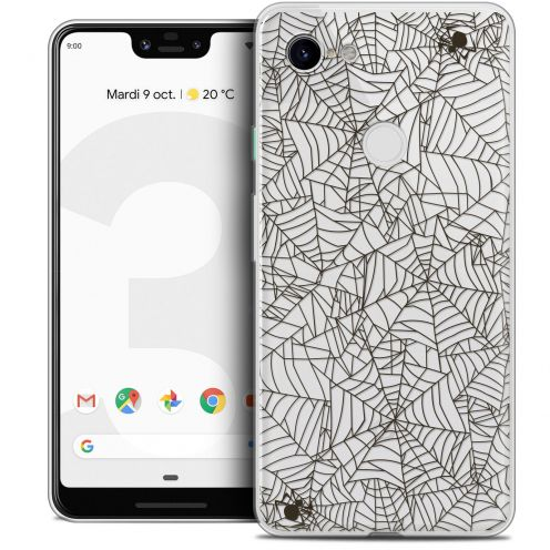 "Coque Crystal Gel Google Pixel 3 XL (6.3"") Extra Fine Halloween - Spooky Spider"