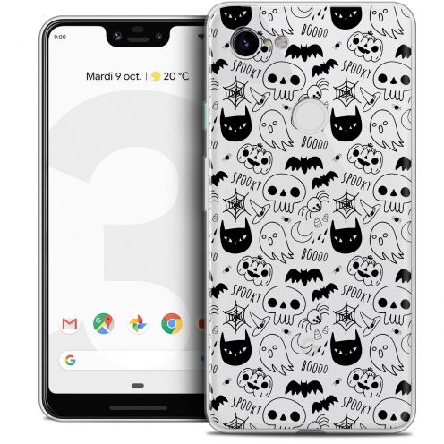 "Coque Crystal Gel Google Pixel 3 XL (6.3"") Extra Fine Halloween - Spooky"