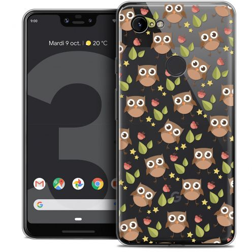 "Coque Crystal Gel Google Pixel 3 XL (6.3"") Extra Fine Summer - Hibou"