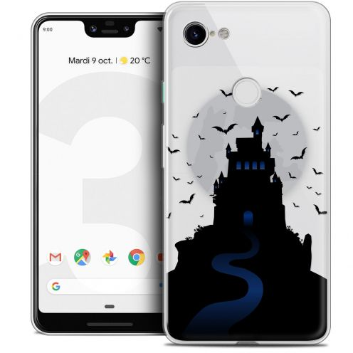 "Coque Crystal Gel Google Pixel 3 XL (6.3"") Extra Fine Halloween - Castle Nightmare"