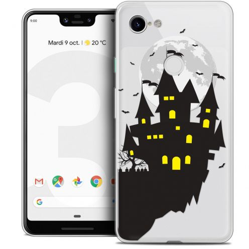 "Coque Crystal Gel Google Pixel 3 XL (6.3"") Extra Fine Halloween - Castle Dream"